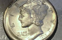1917 S Broadstruck Dime