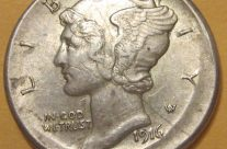 1916 S Broadstruck Dime